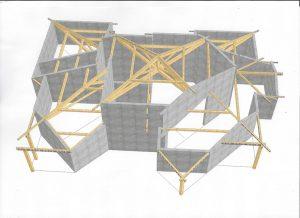 [:fr]3D charpente maison multipente[:en]3D design multi-faceted roof[:]