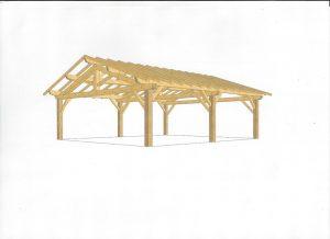 [:fr]3D charpente sur poteaux[:en]3D design roof on posts[:]