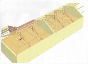 [:fr]3D vue d'ensemble rénovation charpente[:en]3D design roof renovation project[:]