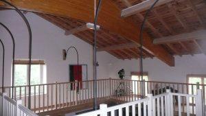 [:fr]Charpente hall d'entrée[:en]Roof structure over entry hall[:]