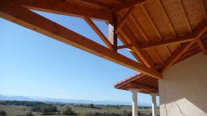 [:fr]Charpente terrasse ferme latine contre collé[:en]Laminated roof truss[:]
