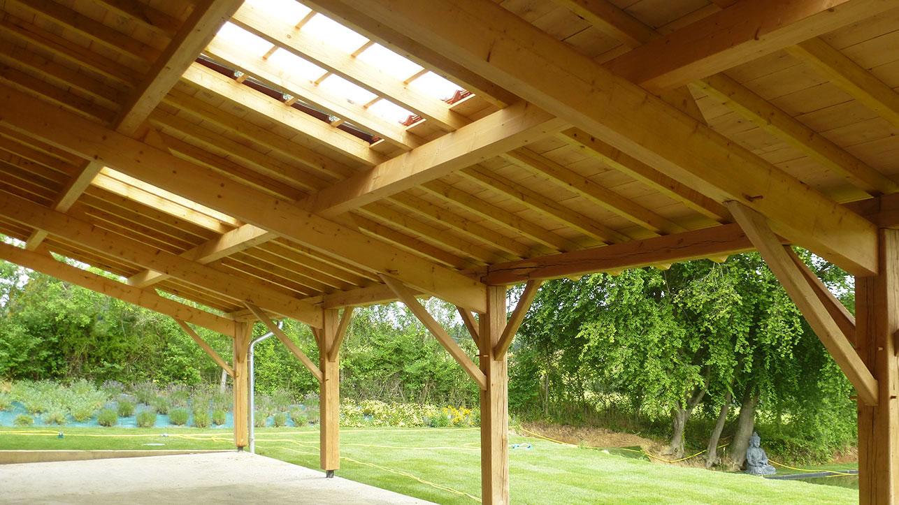 Poteau Bois Pour Terrasse charpente arseguet - travaux de charpente traditionnelle en bois